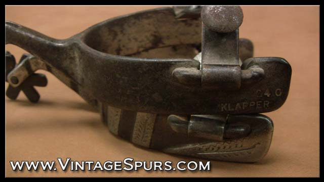 Billy Klapper Handmade Spurs makers mark1 Vintage Spurs